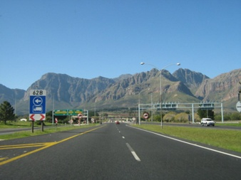 view of the mountain from the toll gate