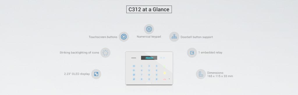 C312 Touchscreen Audio Indoor Monitor
